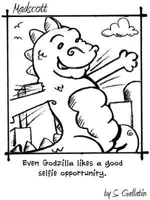 Godzilla selfie