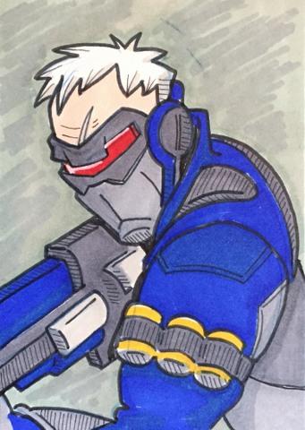 Inktober Soldier 76